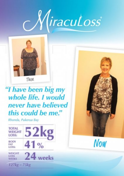 Rhonda's total weight loss: 52kg