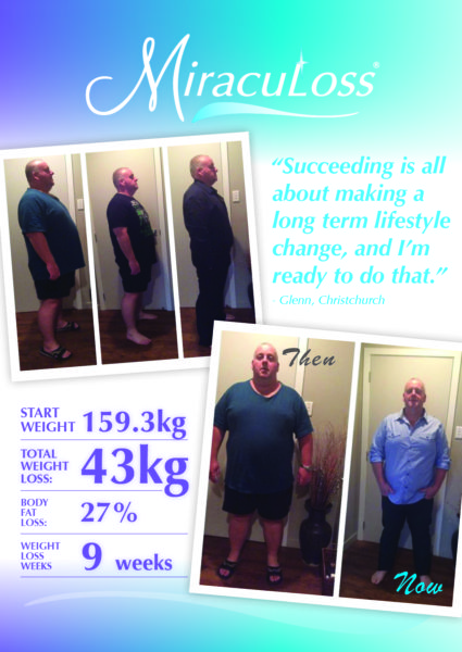 Glenn Pickering. Total weight loss: 43kg